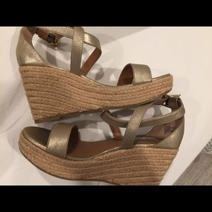 Gold Steve Madden Wedges